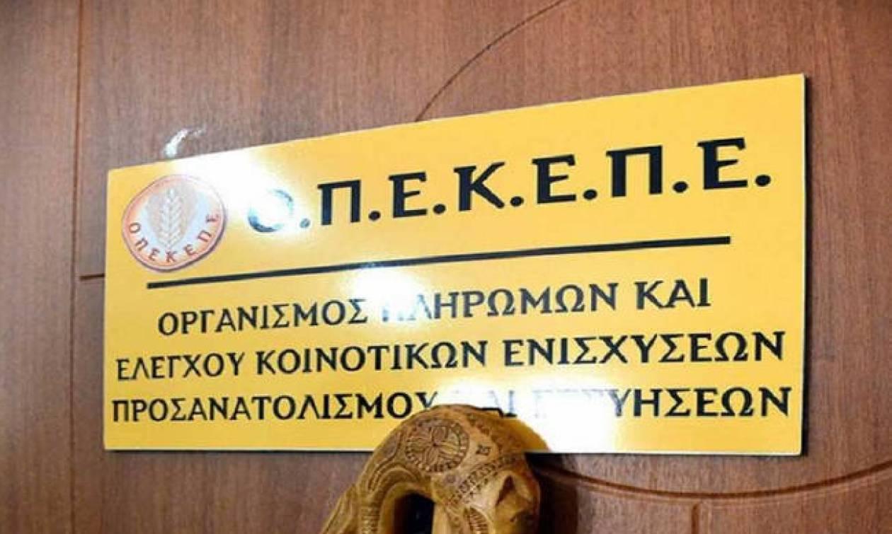 ΟΠΕΚΕΠΕ: Πληρωμή 2,3 εκατ. ευρώ σε 133 δικαιούχους αγρότες