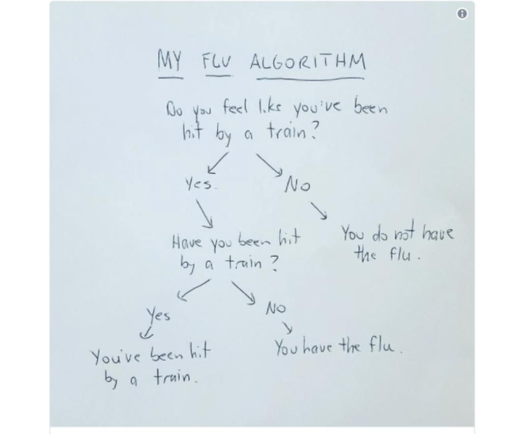Ο αλγόριθμος που κάνει το γύρο του Διαδικτύου: Πώς θα καταλάβεις αν έχεις γρίπη (pic)