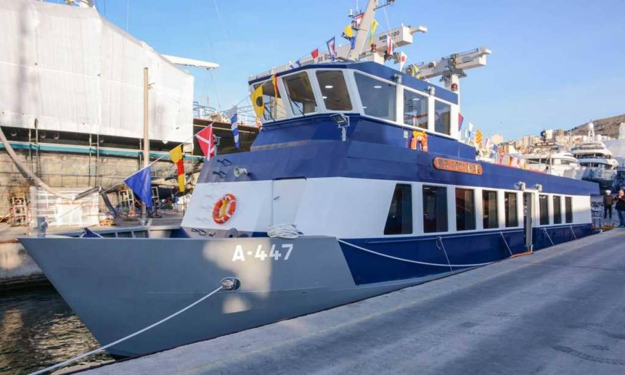 Πολεμικό Ναυτικό: «Επίσημη πρώτη» για το σκάφος «Πτολεμαΐς» στο Πέραμα (pics)