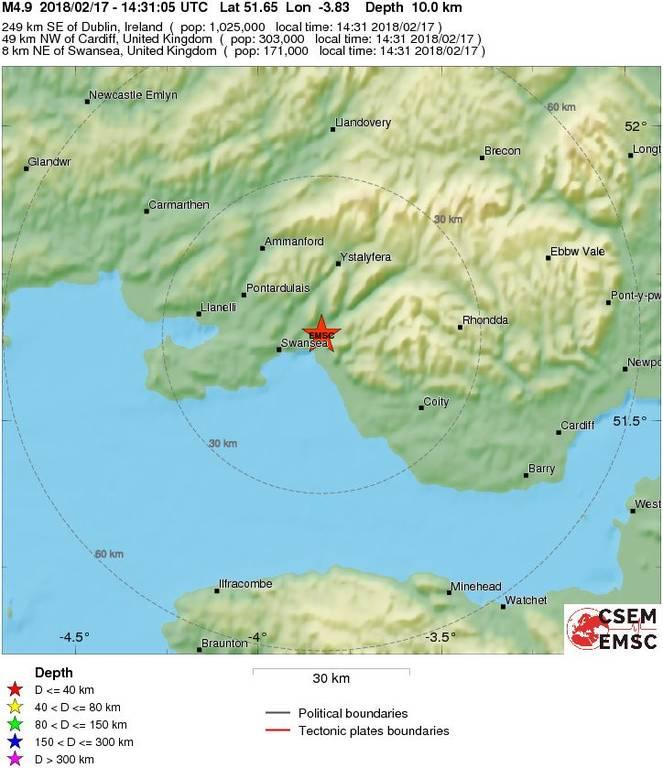 Σπάνιο φαινόμενο: Σεισμός 4,7 Ρίχτερ ΤΩΡΑ στη Βρετανία