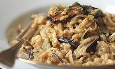Για την Καθαρά Δευτέρα φτιάξτε ριζότο με μανιτάρια