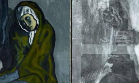 Μυστήριο: Κρυφό έργο τέχνης ανακαλύφθηκε κάτω από πίνακα του Πικάσο (Pics+Vids)