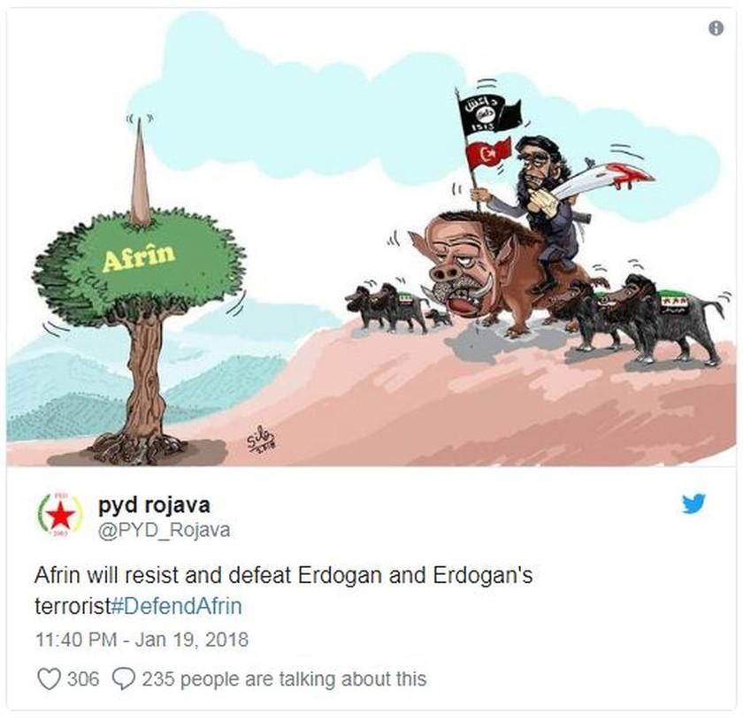 Ερντογάν κατά Έλληνα γραφίστα