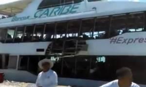 Έκρηξη σε πλοίο στο Μεξικό: Τουλάχιστον 18 τραυματίες (vid)