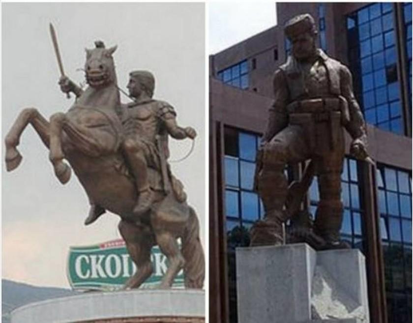 Σκόπια: Αποκαθηλώνουν αγάλματα που παραπέμπουν σε αλυτρωτισμό - Δείτε φωτογραφίες