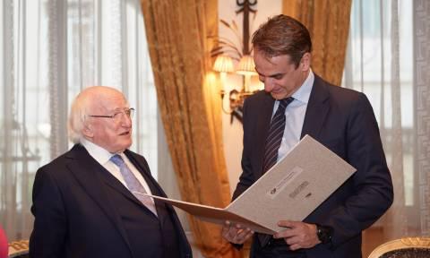 Τετ-α-τετ Μητσοτάκη με τον Πρόεδρο της Ιρλανδίας: Τι ειπώθηκε
