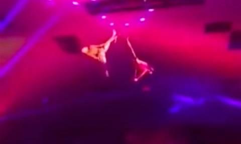 Βίντεο σοκ: Ακροβάτης έπεσε από ύψος έξι μέτρων κατά την διάρκεια του σόου