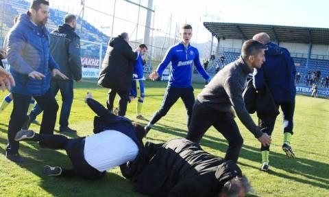 Επεισόδια στο Αστέρας Τρίπολης-ΠΑΟΚ: Πιάστηκαν στα χέρια Καλτσάς-Κωνσταντινίδης! (photos)