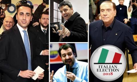 Εκλογές Ιταλία: Πρώτο κόμμα είναι το Κίνημα Πέντε Αστέρων - Η κεντροδεξιά προηγείται ως συμμαχία