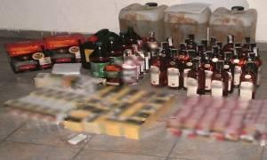 Σέρρες: Συλλήψεις για λαθραία τσιγάρα, ποτά και καύσιμα