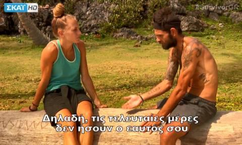 Survivor 2: Δαλάκα και Μουρούτσος έλυσαν τις διαφορές τους και εκείνη ζήτησε συγγνώμη από την ομάδα!