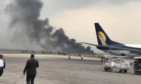 Νεπάλ: Συντριβή αεροσκάφους στο Κατμαντού - Φόβοι για νεκρούς (vid)