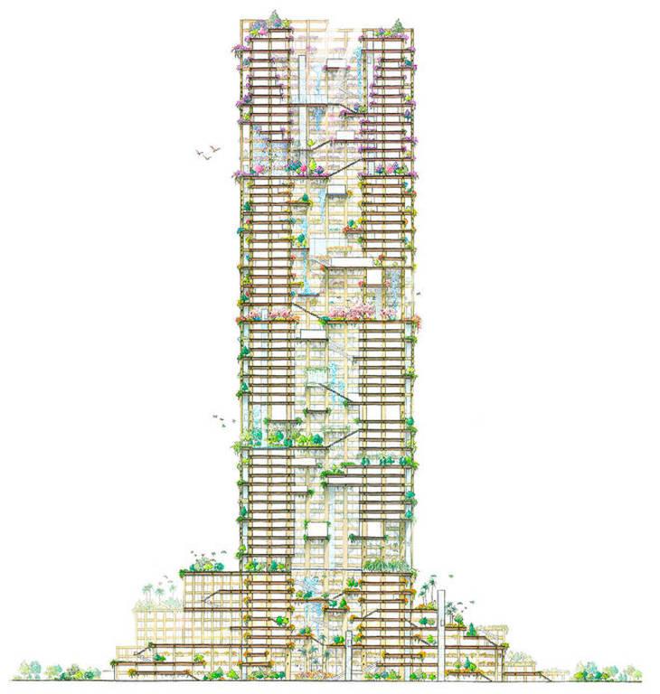 Απίστευτο! Δείτε πως θα μοιάζει ο ψηλότερος ξύλινος ουρανοξύστης στον κόσμο (Pics+Vid)