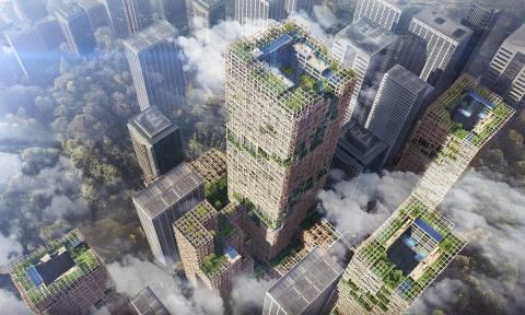 Απίστευτο! Δείτε πώς θα μοιάζει ο ψηλότερος ξύλινος ουρανοξύστης στον κόσμο (Pics+Vids)