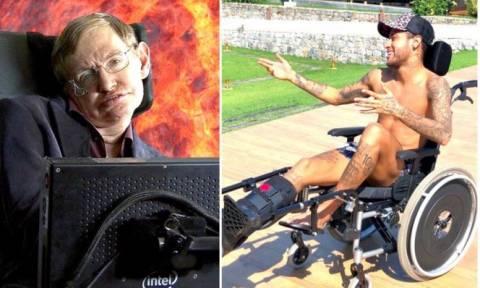 Οργή για το απίστευτα προσβλητικό αντίο του Νεϊμάρ στον Στίβεν Χόκινγκ (pic)