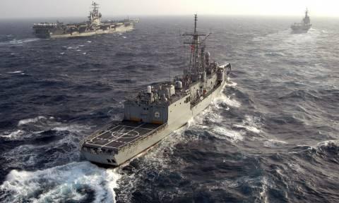Στα... άκρα! Τουρκικά πλοία, υποβρύχια, ελικόπτερα και πεζοναύτες απέναντι από τη Μυτιλήνη