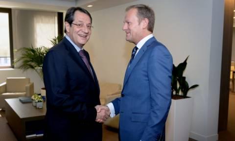 Τηλεφωνική επικοινωνία Τουσκ - Αναστασιάδη ενόψει της κρίσιμης Συνόδου για την Τουρκία