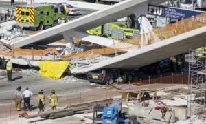 ΗΠΑ: Βίντεο - ντοκουμέντο από την κατάρρευση της πεζογέφυρας στο Μαϊάμι με τους τέσσερις νεκρούς