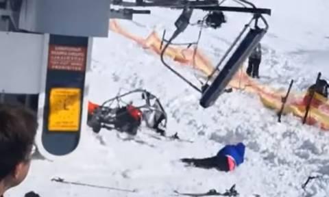 Το τελεφερίκ του τρόμου - Πανικός σε χιονοδρομικό κέντρο (vids)