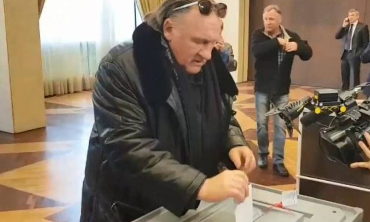 Η παράξενη είδηση της ημέρας: Ο Γάλλος ηθοποιός Ντεπαρντιέ ψήφισε στις προεδρικές εκλογές της Ρωσίας