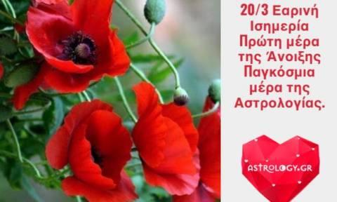 Ζώδια Σήμερα 20/3: Άνοιξη και στις καρδιές μας