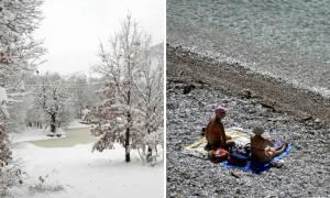 Καιρός – Καλλιάνος: Χιόνια στα βόρεια, καύσωνας στα νότια – Πού θα δείξει 31 βαθμούς το θερμόμετρο