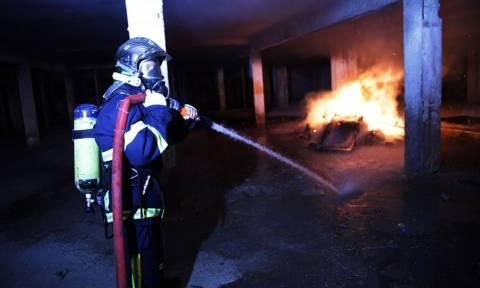 Χανιά: Παρανάλωμα του πυρός αποθήκη ξυλείας (pics&vid)