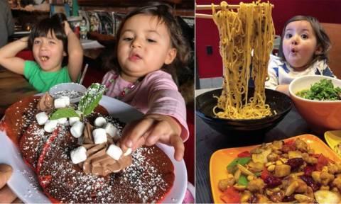 Θα λυγίσετε: Δείτε πώς αντιδρούν τα παιδιά όταν ο πατέρας σερβίρει λιγουρευτικά πιάτα! (pics)