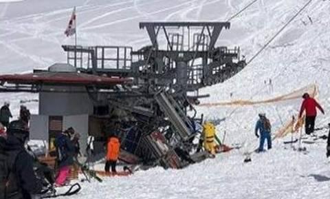 Το βίντεο τηςφρίκης σε χιονοδρομικό κέντρο: Λιφτ τρόμου εκτοξεύει τους σκιέρ (video)