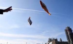Βρετανία: Υποστηρικτές του Brexit πέταξαν… ψάρια στον Τάμεση