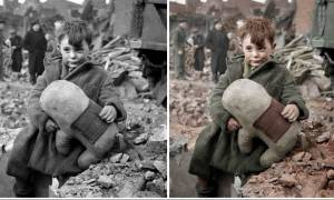 Ανατριχίλα: Πήραν ασπρόμαυρες φωτογραφίες από τον Β' Παγκόσμιο Πόλεμο και...