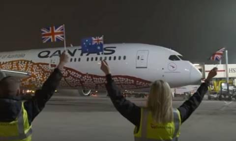 Η Qantas έγραψε ιστορία! Πρώτη απευθείας πτήση από την Αυστραλία στη Βρετανία σε... 17 ώρες! (vid)