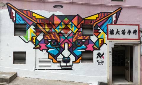 Η τέχνη του γκράφιτι «χτυπά» το Χονγκ Κονγκ (Vid)
