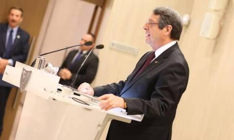 Αναστασιάδης: Στόχος της Τουρκίας είναι να ελέγξει του φυσικούς πόρους της Ανατολικής Μεσογείου