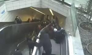 Βίντεο - ΣΟΚ: Σκάλα στο μετρό «καταπίνει» επιβάτη!