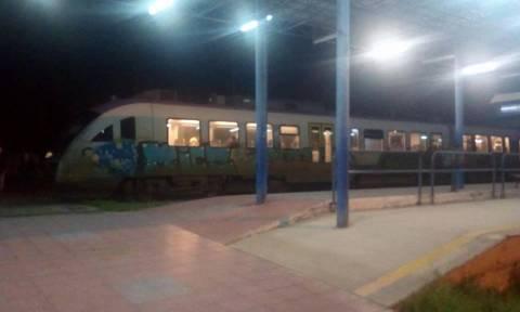 Εκτροχιασμός τρένου στο σταθμό Κατερίνης
