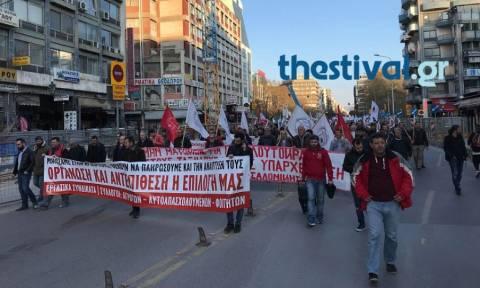 Θεσσαλονίκη: Πορεία συνδικάτων του ΠΑΜΕ με αφορμή την ομιλία Τσίπρα (vids)