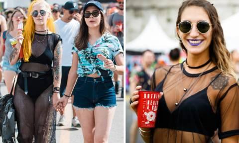 Πήγαν σχεδόν...γυμνές σε φεστιβάλ... μουσικής στη Βραζιλία: Τι ΔΕΝ φορέθηκε (photos)