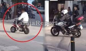 Τρελή καταδίωξη στο κέντρο της Λαμίας: Ο «μπόμπος» προκάλεσε πανικό (vid)