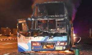 Τραγωδία στην Ταϊλάνδη: 20 μετανάστες από τη Μιανμάρ νεκροί από φωτιά σε λεωφορείο (pic)
