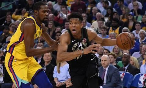 NBA: Μαγικός Αντετοκούνμπο στο επικό «διπλό» επί των Ουόριορς (vid)