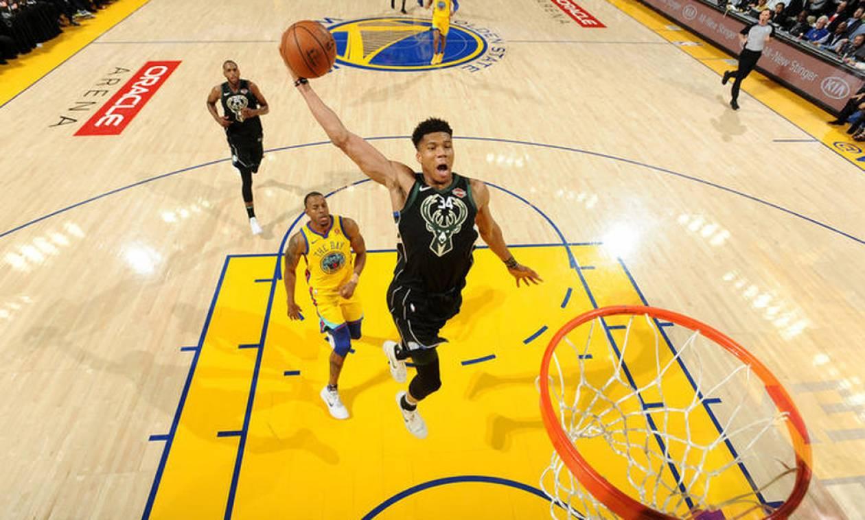 NBA: Τα μαγικά Αντετοκούνμπο με Ουόριορς (vid)