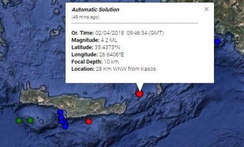 Σεισμός «ταρακούνησε» την Κάσο - Έγινε αισθητός στην Κρήτη