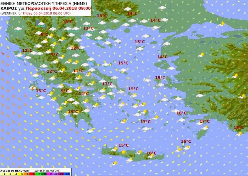 Καιρός Μεγάλη Παρασκευή: Με συννεφιά και βροχές η περιφορά του Επιταφίου (pics)