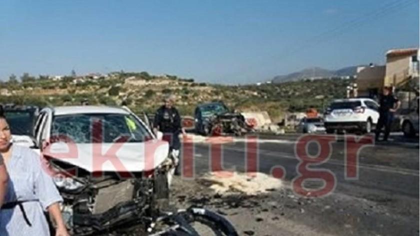 Κρήτη: Σοβαρό τροχαίο με έξι τραυματίες - Ανάμεσά τους δύο παιδιά (pics)