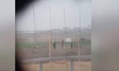 Βίντεο - σοκ: Ισραηλινός ελεύθερος σκοπευτής πυροβολεί άοπλο Παλαιστίνιο