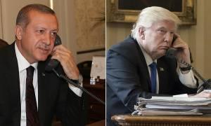 Τηλεφωνική επικοινωνία Τραμπ - Ερντογάν με επίκεντρο τη Συρία