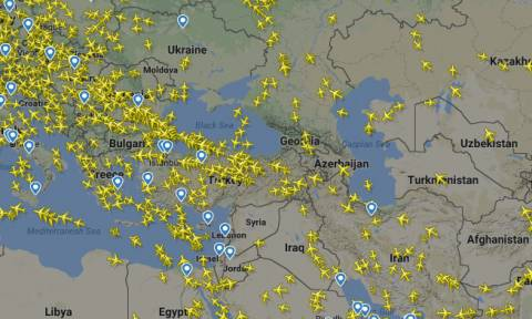 Τύμπανα πολέμου: Δείτε τι συμβαίνει τώρα στον εναέριο χώρο της Συρίας (Pics)