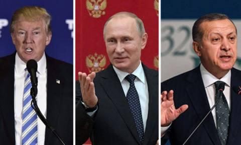 Το «διπλό ταμπλό» του Ερντογάν στη Συρία: Σε ανοικτή γραμμή με Τραμπ και Πούτιν