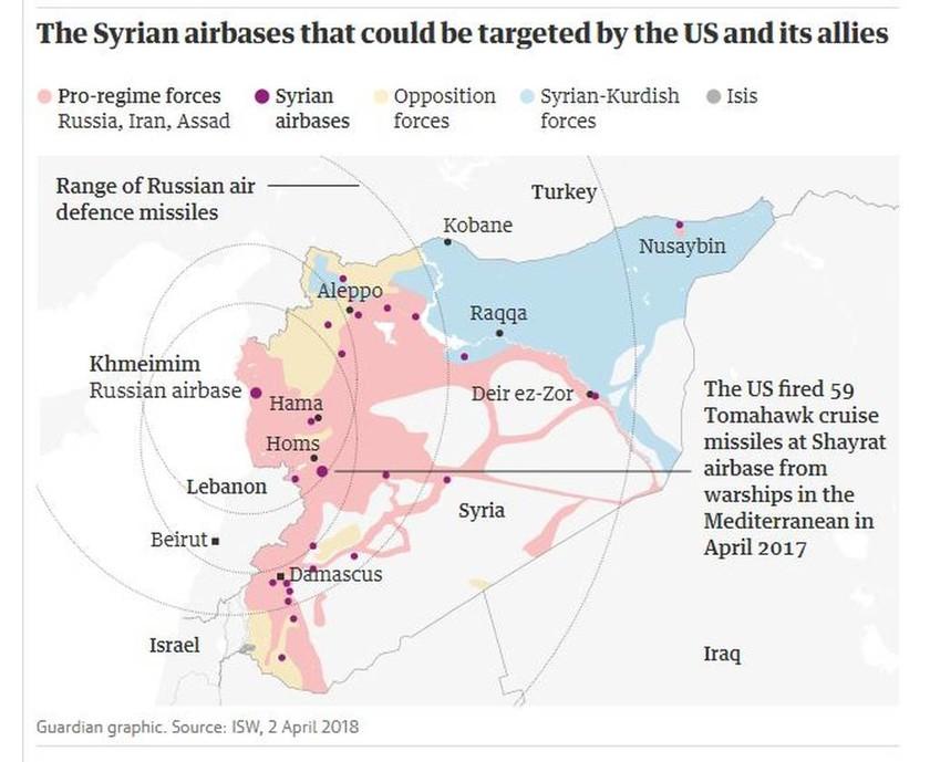Πόλεμος Συρία: Αυτοί είναι οι 8 στόχοι που θα χτυπήσει ο Τραμπ